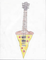 a pizza electric guitar by spark300c