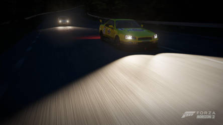 Forza Horizon 2 - Night Racing by crocnocker