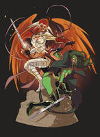 _Commission:Warriors_ by SerLuxfero
