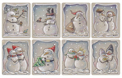Christmas tags, set 2 by akinna