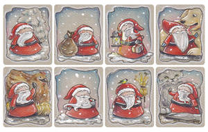 Christmas tags, set 5 by akinna