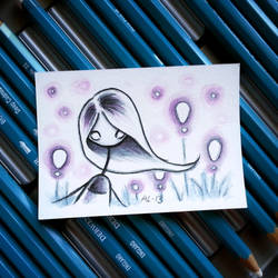 Purple Night - Original ACEO by akinna