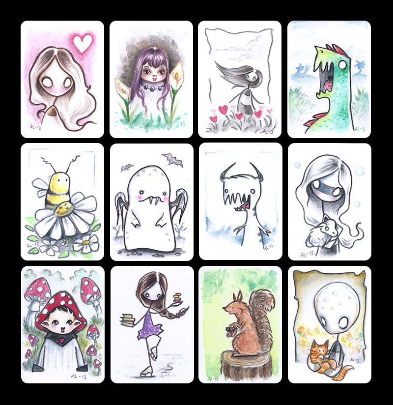 2013 - ACEO collection 2 by akinna
