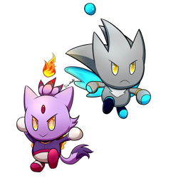 Silver and Blaze Chao by Tri-shield