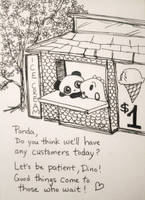 Dino and Panda's Every Weather Ice Cream Stand by MelodicInterval