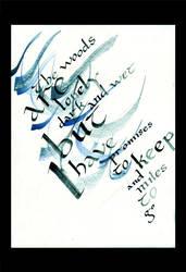 Calligraphy by BeatrizMartinVidal