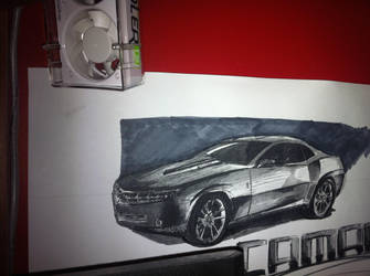 2007 Chevy Camaro Drawing by FlashhhThunderrr
