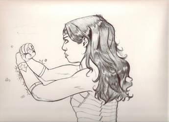 Wonder Woman Fan art of Fan art by FlashhhThunderrr
