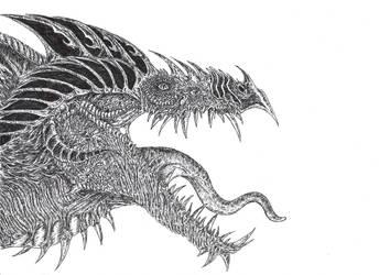 Antichrist Dragon by WretchedSpawn2012
