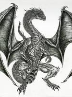 Great Guardian Dragon by WretchedSpawn2012