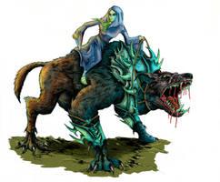 Elven Warg by WretchedSpawn2012
