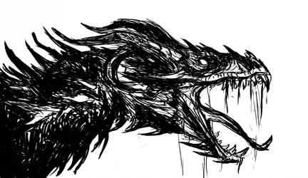 The Cursed Dragon by WretchedSpawn2012