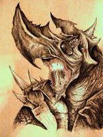 Kaiju - Rhinotops by WretchedSpawn2012