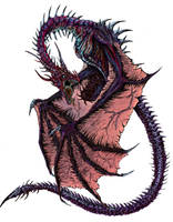 Cursed Dragon Color Study by WretchedSpawn2012