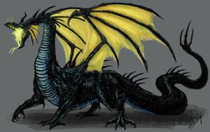 Maleficent Dragon (Remake) by WretchedSpawn2012