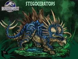Jurassic World: Stegoceratops by WretchedSpawn2012