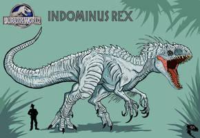 Jurassic World - Indominus Rex by WretchedSpawn2012