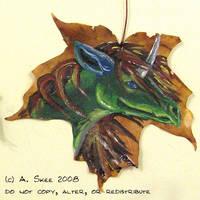 Digitalis Leaf Badge by tyreenya