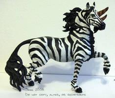 Breyer- Zebra Bicorn by tyreenya
