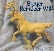 Breyer Reindeer WIP by tyreenya