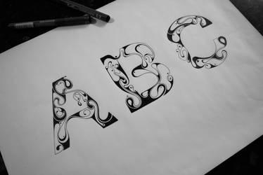 Illustrated Typeface. by Robert-Missen