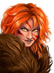 Astrid portrait by iara-art