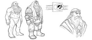 Concept art: Dwarf, male by iara-art