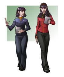 T'var and T'lin by iara-art