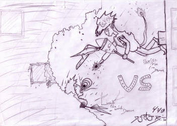 BATTLE OF FIRE AND WIND DEMON!!!! by Kingb1989
