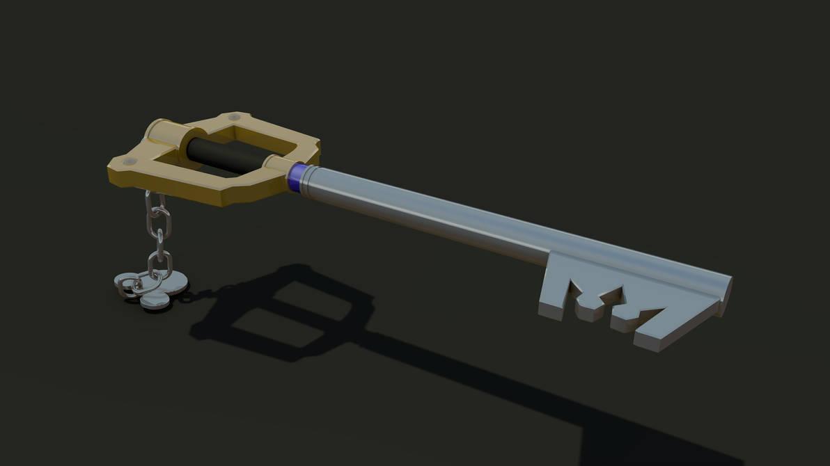 Keyblade 3D Render - Sora's Keyblade 1 by HaakonHawk