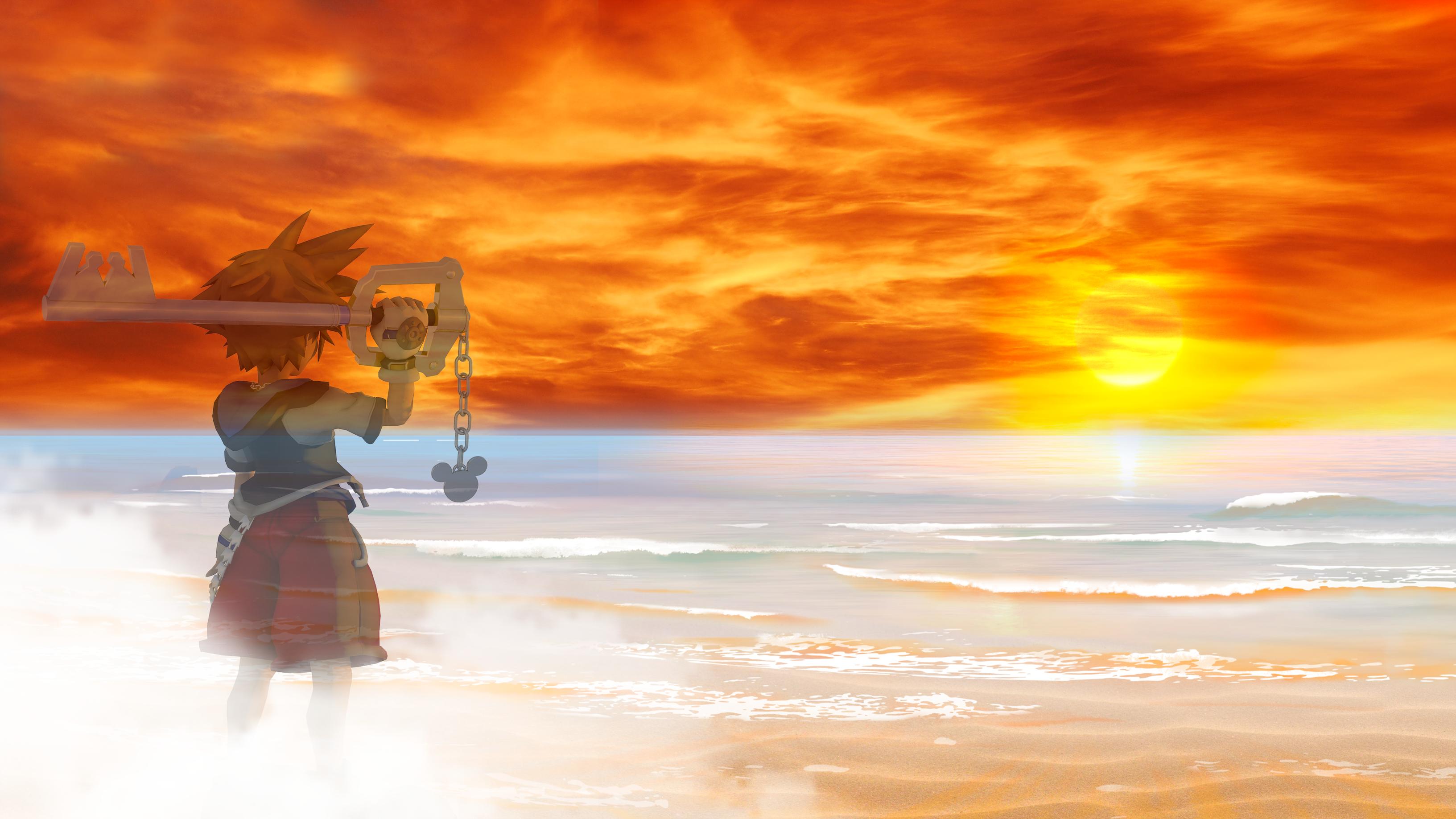Sora imagining himself at the beach by HaakonHawk