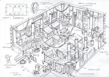 INSOMNIA: The Ark sketch  - 005 by HeroCraftGames
