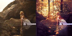 Golden bay - beforeafter by ForestGirl
