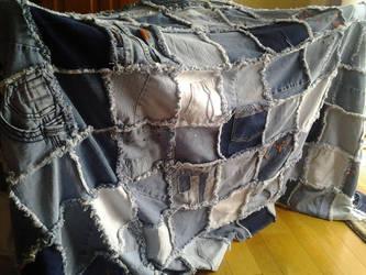 Denim Rag Quilt by Pookadook