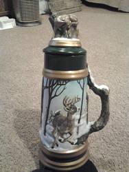 Ceramic Whitetail Deer Stein by Pookadook