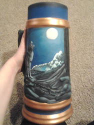 Starry Night Wolf Stein Details by Pookadook
