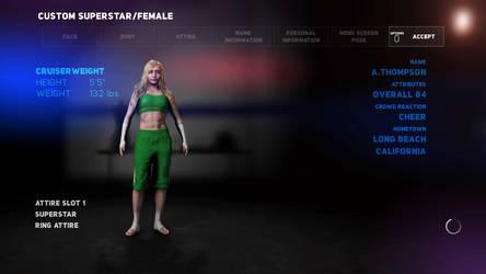 Wrestling Project: Alice Thompson by JoJofan97