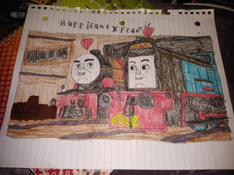 Drawing of Hurricane and Frankie at the Steelworks by hamiltonhannah18