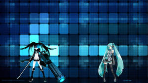 black rock shooter and miku by lycoris-vampire