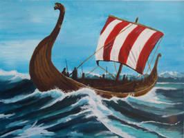 Viking longship by Nikko707