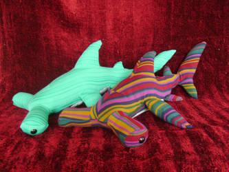 Hammer Head sharks by NataliaVulpes
