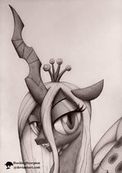Queen Chrysalis Portrait by RockingScorpion