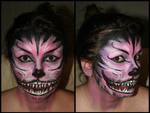 Cheshire Cat Face Paint by Uberkayt