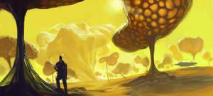 yellow sky by sketcheth