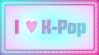I heart K-Pop Stamp by SailorTrekkie92