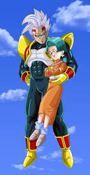 Baby Vegeta and Bulma by tyller16