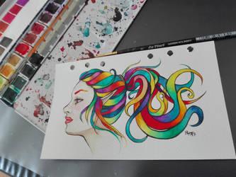 rainbow elf by Darkshirley