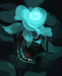 Crimsonthorn Dragon by beagler9