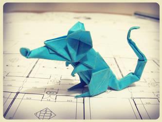 origami rat by alejandro-delafuente