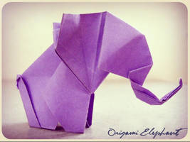 Origami Baby elephant by alejandro-delafuente